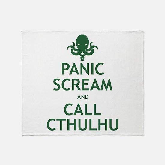 Panic Scream and Call Cthulhu Throw Blanket