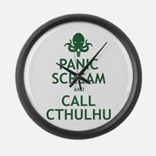 Panic Scream and Call Cthulhu Large Wall Clock