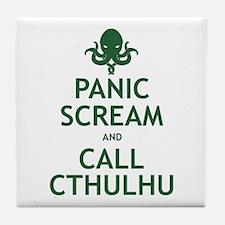 Panic Scream and Call Cthulhu Tile Coaster