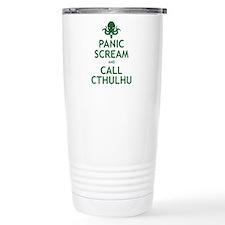 Panic Scream and Call Cthulhu Travel Mug