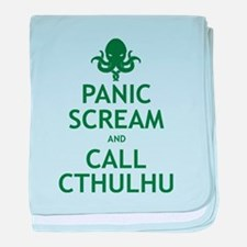 Panic Scream and Call Cthulhu baby blanket