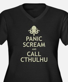 Panic Scream and Call Cthulhu Women's Plus Size V-