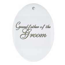 Grandfather of the Groom Oval Ornament