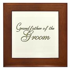 Grandfather of the Groom Framed Tile