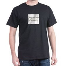 Grandfather of the Groom Black T-Shirt