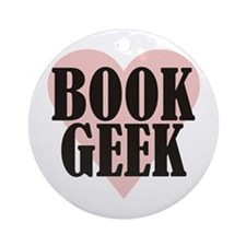 Book Geek Ornament (Round)