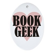 Book Geek Ornament (Oval)