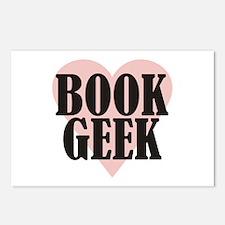Book Geek Postcards (Package of 8)
