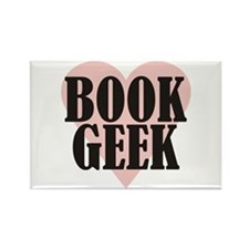 Book Geek Rectangle Magnet
