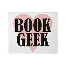Book Geek Throw Blanket