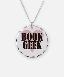 Book Geek Necklace Circle Charm