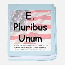 E. Pluribus Unum baby blanket