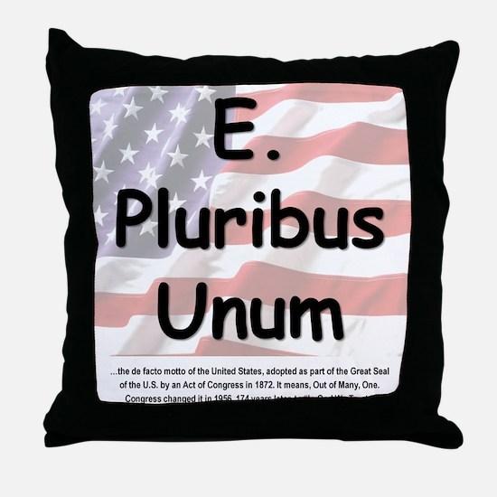 E. Pluribus Unum Throw Pillow