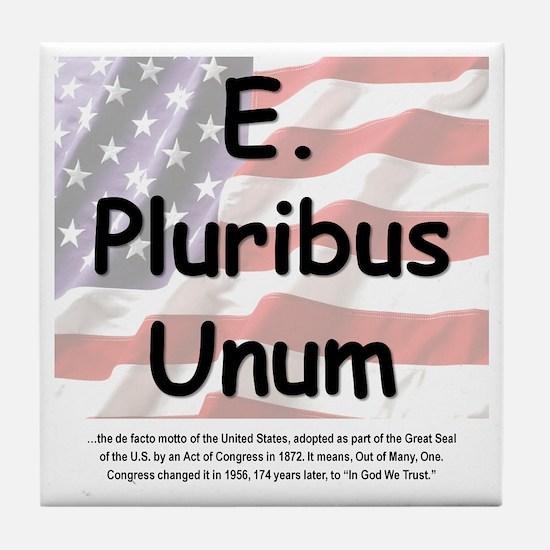 E. Pluribus Unum Tile Coaster