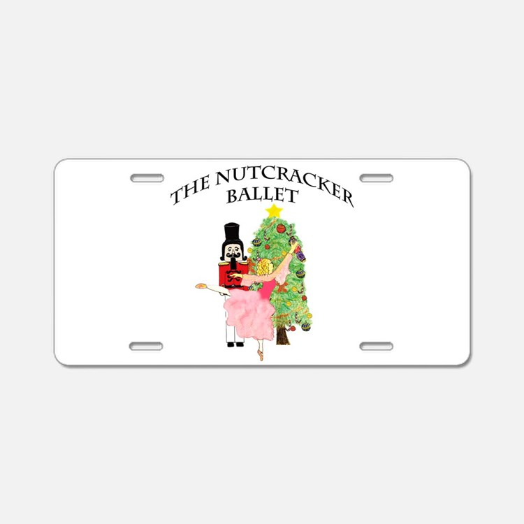Cute Nutcracker ballet Aluminum License Plate