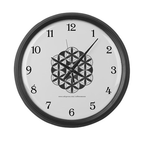 Black and White Pattern Large Wall Clock