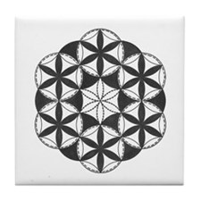 Black and White Pattern Tile Coaster