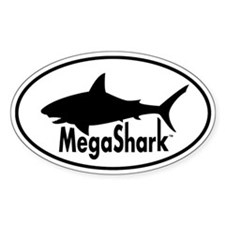 MegaShark logo Decal