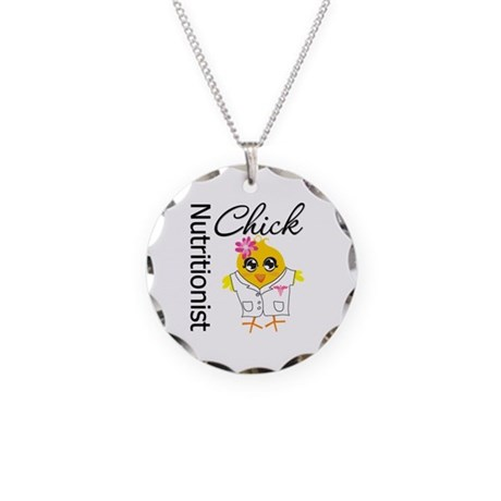 Nutritionist Chick Necklace Circle Charm
