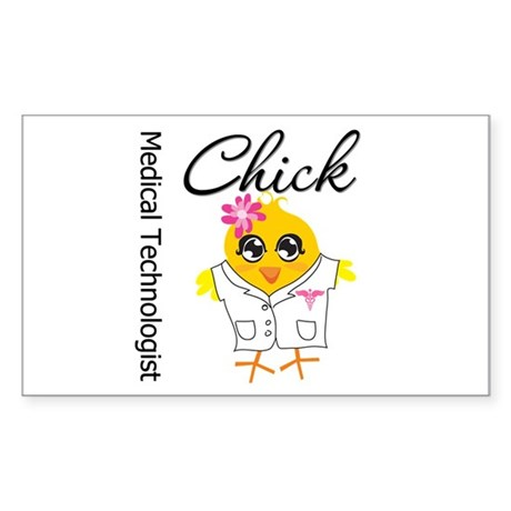 Medical Technologist Chick Sticker (Rectangle)