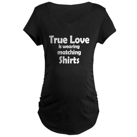 Love is matching Shirts Maternity Dark T-Shirt