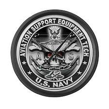 USN Aviation Support Equipmen Large Wall Clock