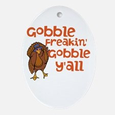 Gobble Y'all Ornament (Oval)