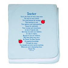 Teacher Thank You baby blanket
