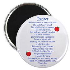 Teacher Thank You Magnet