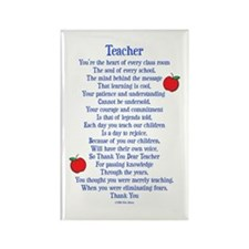 Teacher Thank You Rectangle Magnet