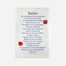 Teacher Thank You Rectangle Magnet (100 pack)