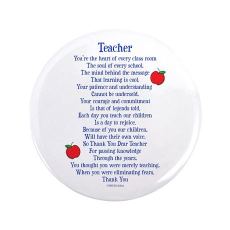 "Teacher Thank You 3.5"" Button"