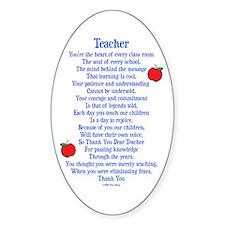Teacher Thank You Decal