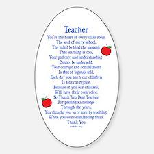Teacher Thank You Sticker (Oval)