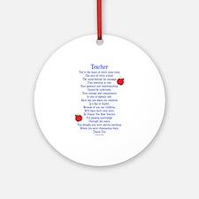 Teacher Thank You Ornament (Round)