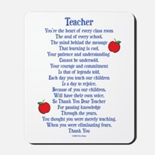 Teacher Thank You Mousepad
