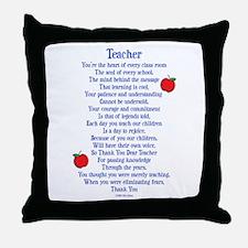 Teacher Thank You Throw Pillow