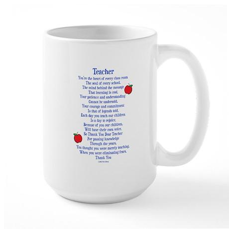 Teacher Thank You Large Mug