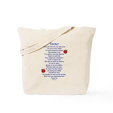 Teacher Thank You Tote Bag