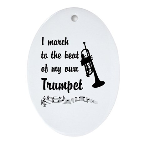 March to the Beat: Trumpet Ornament (Oval)