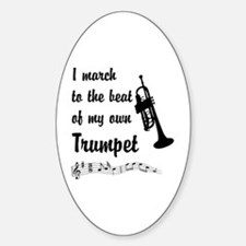 March to the Beat: Trumpet Sticker (Oval)