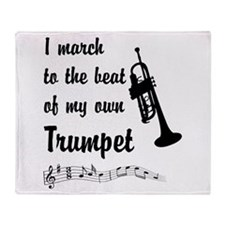 March to the Beat: Trumpet Throw Blanket