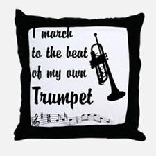 March to the Beat: Trumpet Throw Pillow