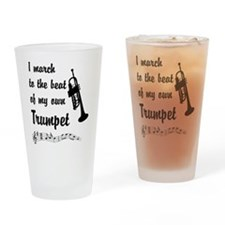 March to the Beat: Trumpet Drinking Glass