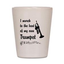 March to the Beat: Trumpet Shot Glass