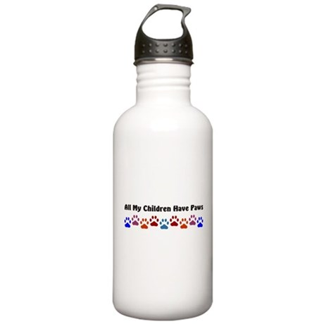 All My Children Have Paws 7 Stainless Water Bottle