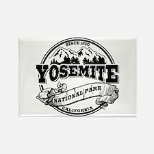 Yosemite Old Circle Rectangle Magnet