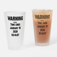 Unix End of Time Drinking Glass