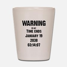 Unix End of Time Shot Glass