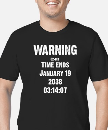 Unix End of Time Men's Fitted T-Shirt (dark)